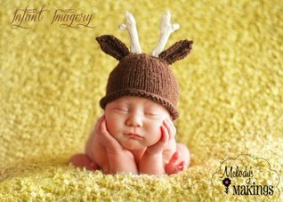 Antler Hat Knitting Pattern - 6 Sizes Included  by  Melody Rogers