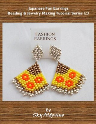 Japanese Fan Earrings Beading & Jewelry Making Tutorial Series I23  by  Sky Aldovino