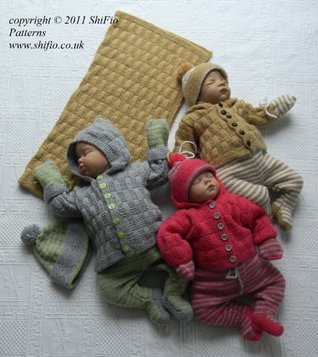 Knitting Pattern- baby boy, girl, jacket, hat,leggings, mitts and blanket, 2 sizes #217  by  ShiFios Patterns
