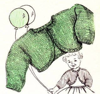 Tiny Knit Bolero for Baby Vintage Knitting Pattern EBooik Download  by  Unknown