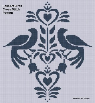 Folk Art Birds Cross Stitch Pattern  by  NOT A BOOK