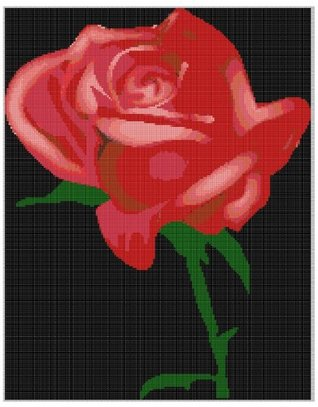 Rose 2 Cross Stitch Pattern  by  NOT A BOOK