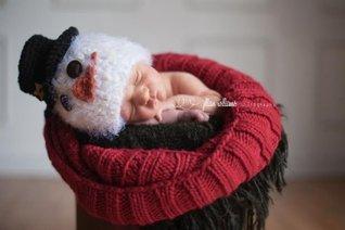 Top hat snowman  by  crochetmylove designs