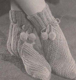 Bed Socks No. 948 Knit Knitting Pattern  by  Hollywood Patterns