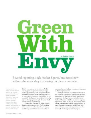 Green With Envy: Writing & Designing Corporate Responsibility Reports Rodney Moore