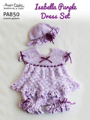 Crochet Pattern Isabella Purple Dress PA850-R  by  Maggie Weldon