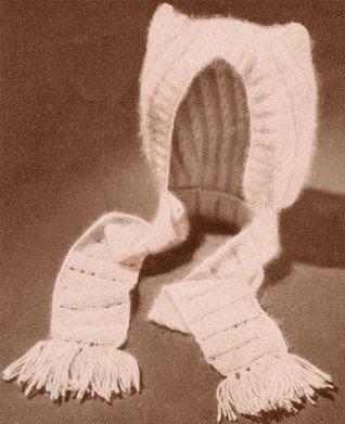 Pussycat Baby Bonnet Cap Hat Vintage Knit Kntting Pattern EBook Download Unknown
