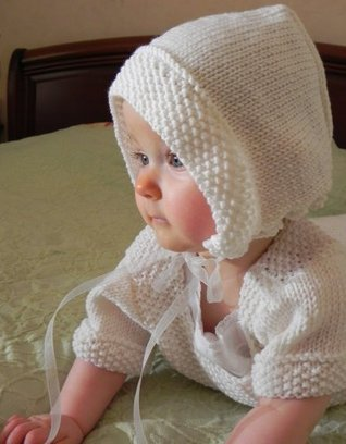 Traditional French Baby Bonnet Knitting Pattern  by  Lucinda Segneri