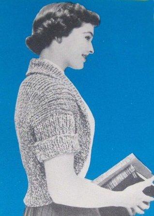 Super Easy Jiffy Shrug Bolero Knitting Pattern Vintage Knit EBook Download Unknown