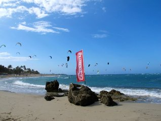 The Wind at our Backs: Kiteboarding in the Dominican Republic  by  Allison Shapira