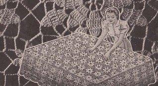 Vintage Crochet Lace Tablecloth Motif Pattern EBook Download Unknown