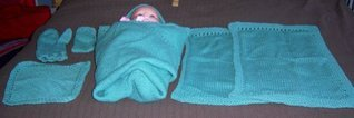 Baby Bath Layette Set and Baby Pi Sack  by  Patricia Bishop