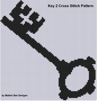 Key 2 Cross Stitch Pattern NOT A BOOK