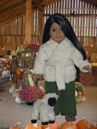 Wraparound Jacket with Pants Knitting Pattern for 18 inch dolls Ase Bence