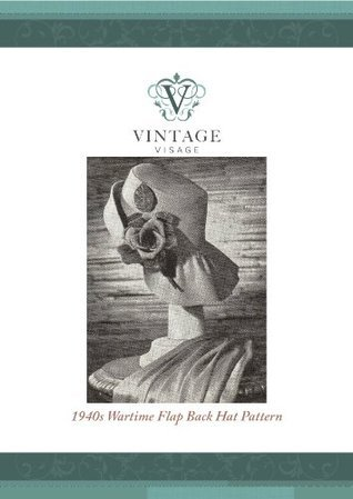 1940s style flapback hat sewing pattern-easy make  by  Vintage Visage