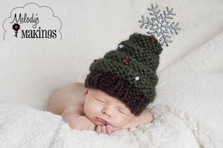 Christmas Tree Hat Knitting Pattern - 5 Sizes Included  by  Melody Rogers