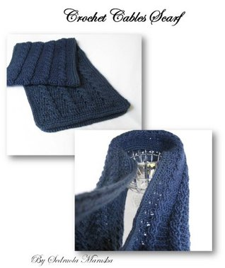 Cable Crochet Scarf Pattern  by  Sedruola Maruska
