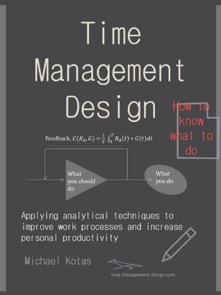 Time Management Design: Applying analytical techniques to improve work habits and increase personal productivity Michael Kotas