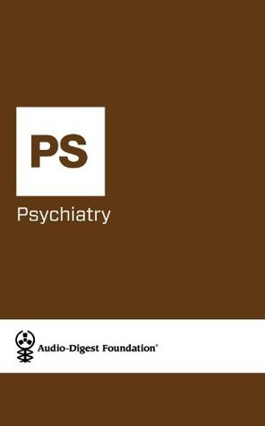 Psychiatry: Depression in Menopause/Sleep Disorders (Audio-Digest Foundation Psychiatry Continuing Medical Education  by  Audio Digest