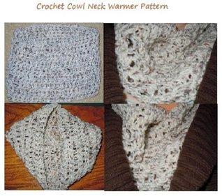 Crochet a Cowl Neck Warmer Pattern - Chunky Cowl Neck Crochet Pattern Craftdrawer Craft Patterns