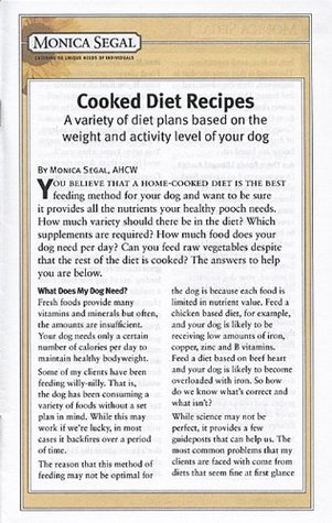 Cooked Diet Recipes  by  Monica Segal