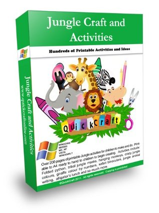 Jungle Craft Activities Pack- Massive QuickCraft Sally Faust