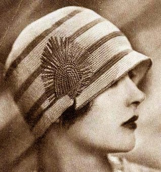 The Newport Crochet Flapper Hat Pattern Cloche Beanie with Decoration - Headsize 22 with Directions for Smaller or Larger Sizes Hollywood Patterns