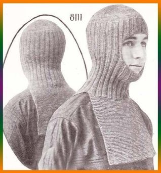 Helmet Knitted in One Piece Ski Hood Knit Knitting Pattern  by  Charlie Cat Patterns