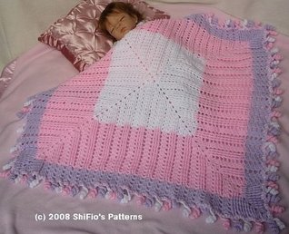 Crochet Pattern Afghan Blanket Shawl  #103 USA Terms ShiFios Patterns