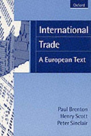 International Trade: A European Text  by  Paul Brenton