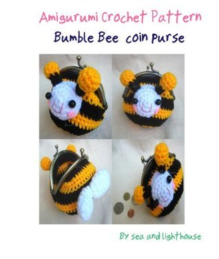 Bee coin purse Crochet Pattern  by  seaandlighthouse (K.Wanherm)