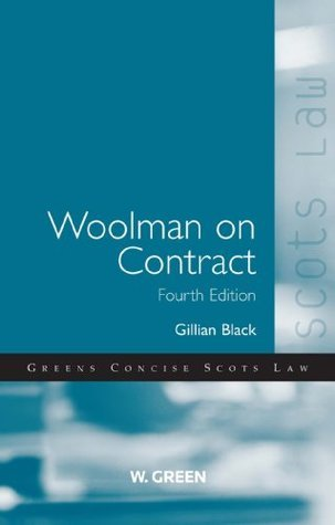 Woolman on Contract, 4th edition  by  Gillian Black