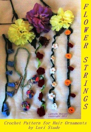 Flower Strings Hair Ornaments Crochet Pattern Lori Stade