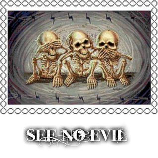 See No Evil Counted Cross Stitch Chart Noelle Tibedeaux