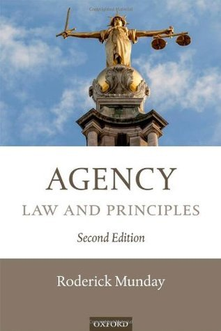Agency: Law and Principles Roderick Munday