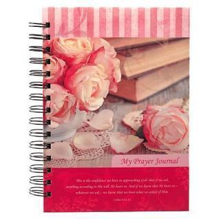 Prayer Journal Pink Flowers Christian Art Gifts