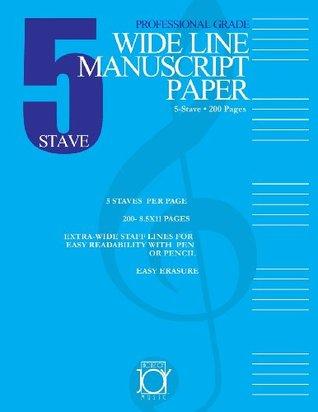 Five Stave Wide Line Manuscript Paper House of Joy Music