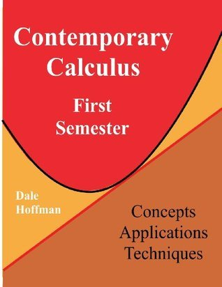 Contemporary Calculus First Semester Dale Hoffman