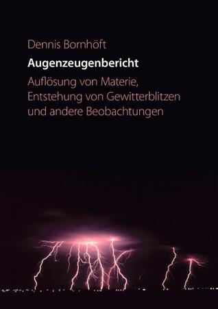 Augenzeugenbericht. Auflösung von Materie ...: Auflösung von Materie, Entstehung von Gewitterblitzen und andere Beobachtungen  by  Dennis Bornh Ft