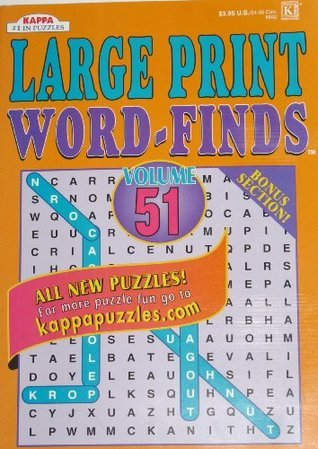 Large Print Word-Finds Volume 51/52 Kappa Books (51/52)  by  Kappa Books