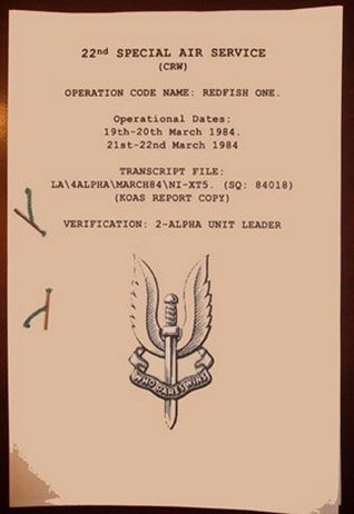 The 22nd Special Air Service Regiment (22 SAS) Military Hostage Operation to extract Target from IRA Kidnap - Transcript Redfish One. J. Amos