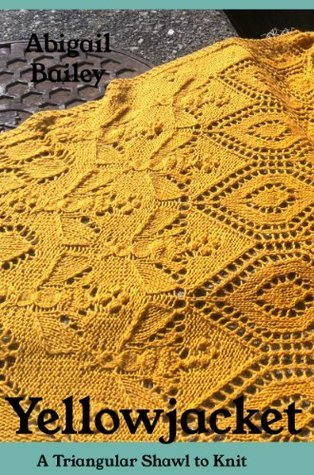 Yellowjacket, a triangular shawl to knit  by  Abigail Bailey