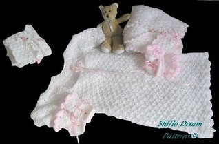 Christening Gown Crochet Pattern 7 USA ShiFios Patterns