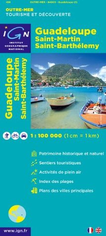 Guadeloupe Route Map  by  Ign