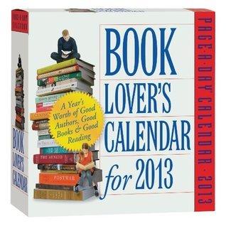 Book Lovers Calendar for 2013 NOT A BOOK