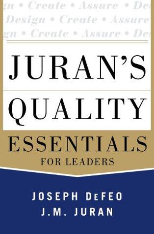 Jurans Quality Management and Analysis Joseph Defeo