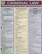 Criminal Law Laminate Reference Chart BarCharts Inc.