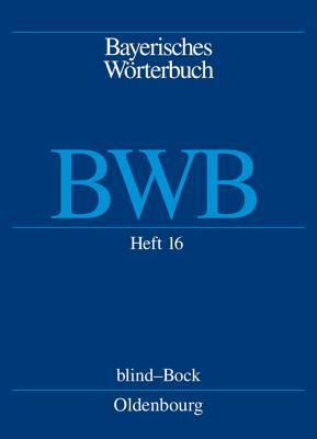 Heft 16: Blind Bock  by  Bayerische Akademie der Wissenschaften