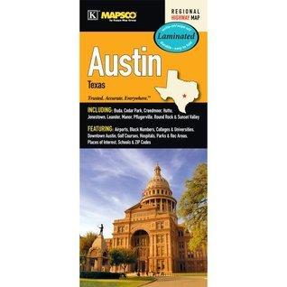 Austin, TX Laminated Map  by  Kappa Map Group