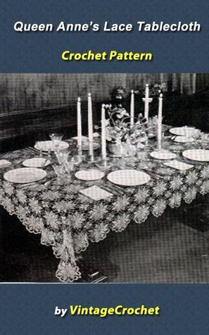 Queen Annes Lace Tablecloth Vintage Crochet Pattern Ebook Vintage Crochet